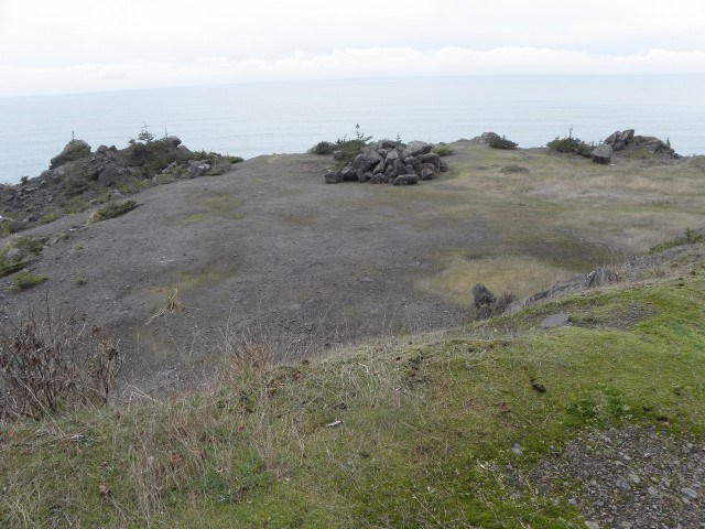 rock quarry with an overlook of Pacific Ocean