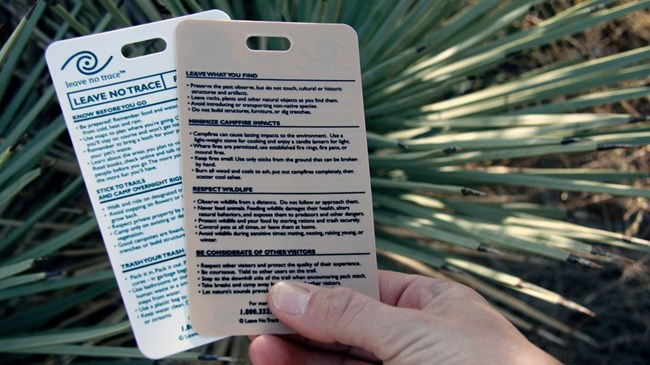 Leave no trace information cards