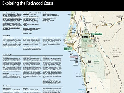 Top half of Redwood National Park's brochure