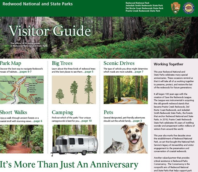Front Cover of 2018 Visitors Guide