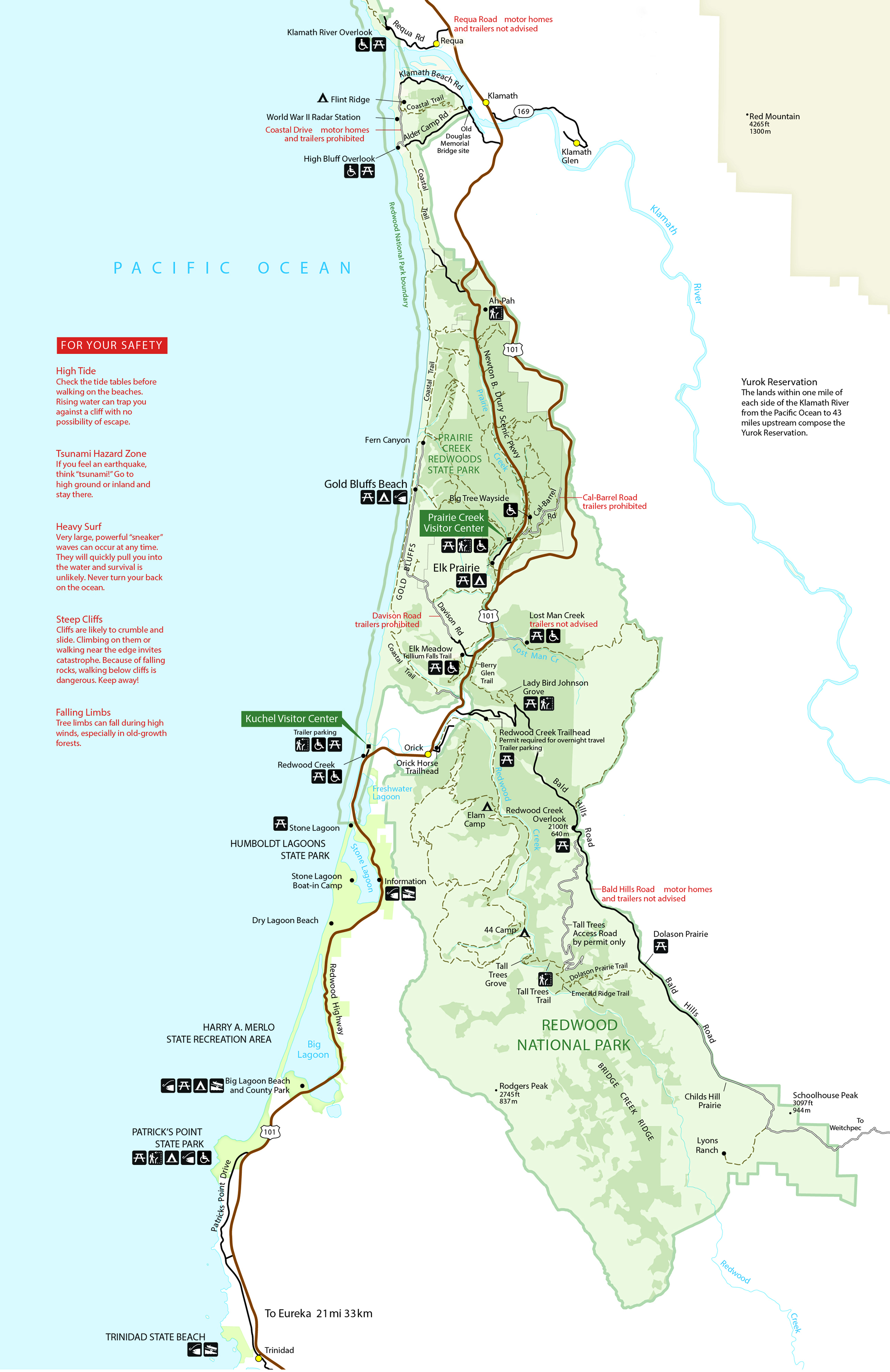 Picture of: Maps Redwood National And State Parks U S National Park Service