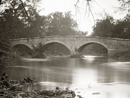 Photo of Burnside Bridge taken shortly after the Battle of Antietam