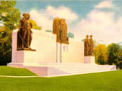 Turn-of-the-century postcard view of Confederate Monument at Shiloh