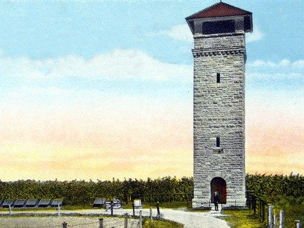 Early 20th-century postcard showing Observation Tower