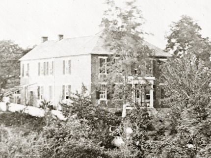 Wartime photo of the Philip Pry House