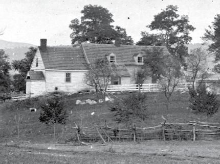 Wartime photo of the Roulette house