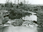 Historic photograph of Stone Bridge after it was destroyed by the Confederates