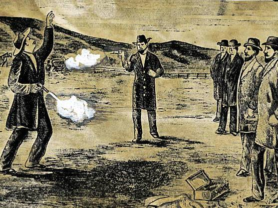 Early 20th-century depiction of the Broderick-Terry duel