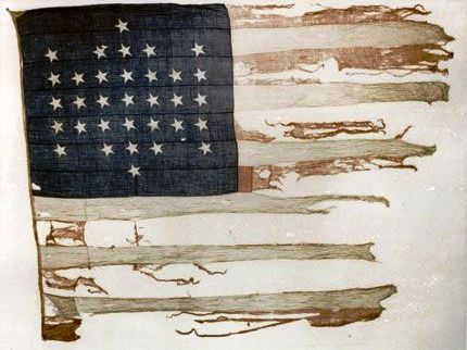 U.S. flag that flew during the bombardment of Fort Sumter