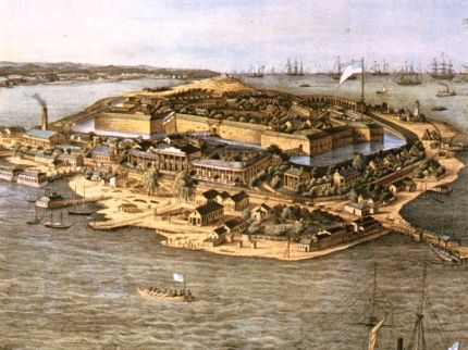Wartime print of Fort Monroe