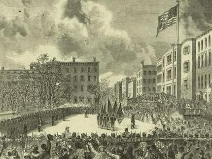 Presentation of colors to the 20th United States Colored Infantry