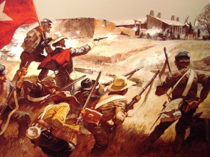 Painting of the Battle of Glorieta Pass