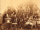 Photograph of a Union family at a military camp