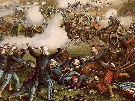 Kurz & Allison print of the First Battle of Manassas