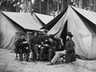 Photograph staff at a field hospital