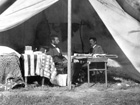 Photograph of President Lincoln and General McClellan at Antietam