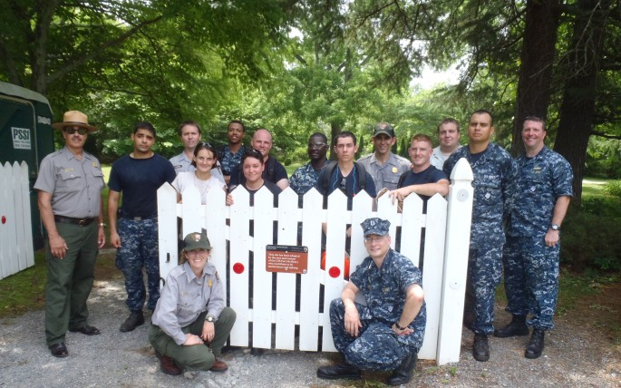 Men and Women of USS Fort McHenry at Rural Plains.