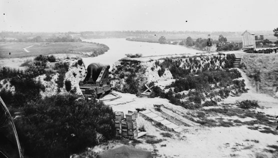 View of the James River from Drewry's Bluff, taken during the Civil War.