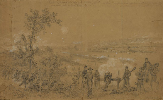 sketch of the battle of Malvern Hill