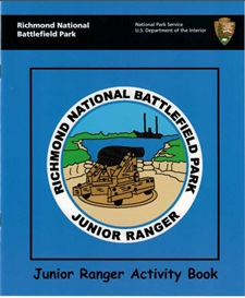 Junior Ranger booklet at Richmond National Battlefield Park