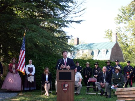 Dedication of Totopotomoy Creek battlefield / Rural Plains unit at Richmond NBP