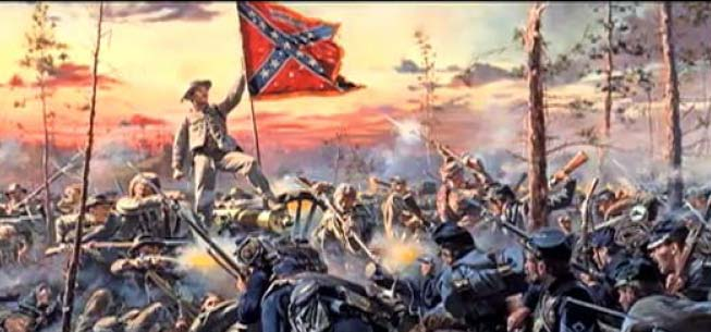 """Southern Cross"" by Don Trioni, showing 11th Alabama at the Battle of Glendale."
