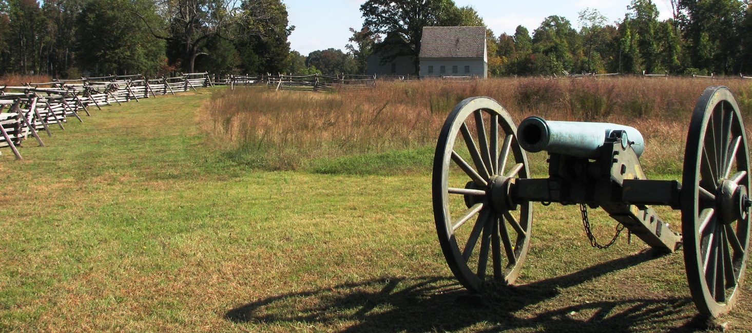 A view of the Watt House and Gaines' Mill battlefield.