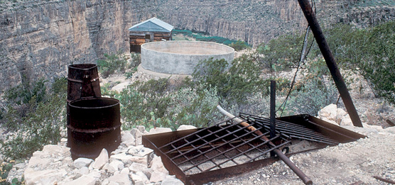 Remains of a Candelilla wax operation in the lower canyons