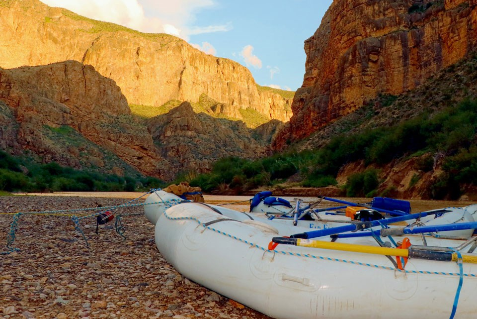 Rafts in Boquillas Canyon