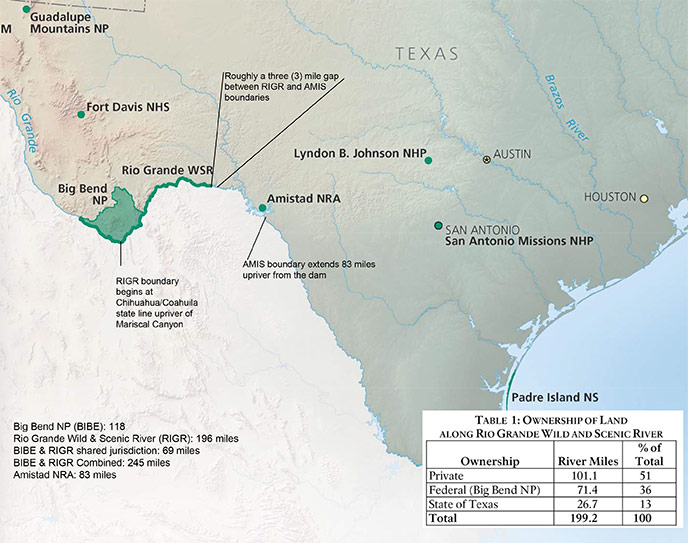 Maps Rio Grande Wild Scenic River US National Park Service - Big bend national park map us