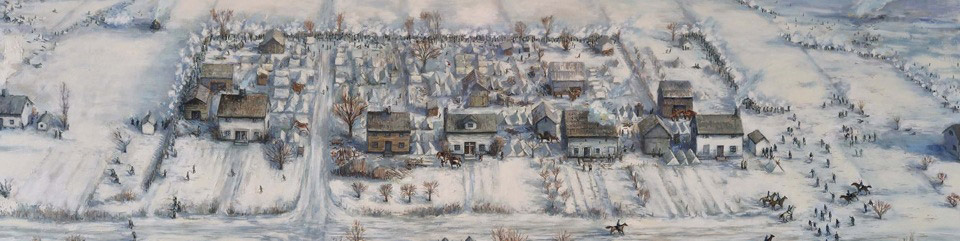 Painting of Frenchtown settlement