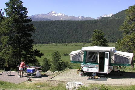 Campers in Moraine Park Campground.
