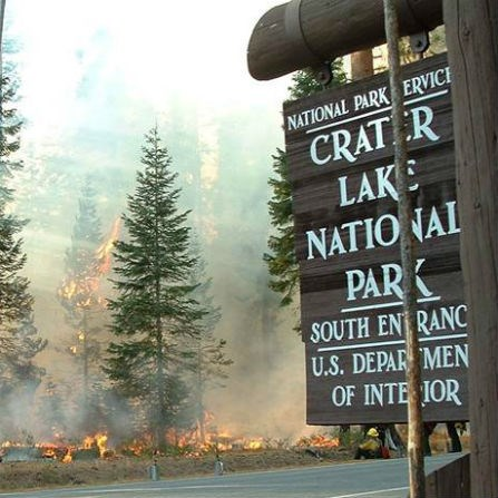 Prescribed fire at Crater Lake National Park