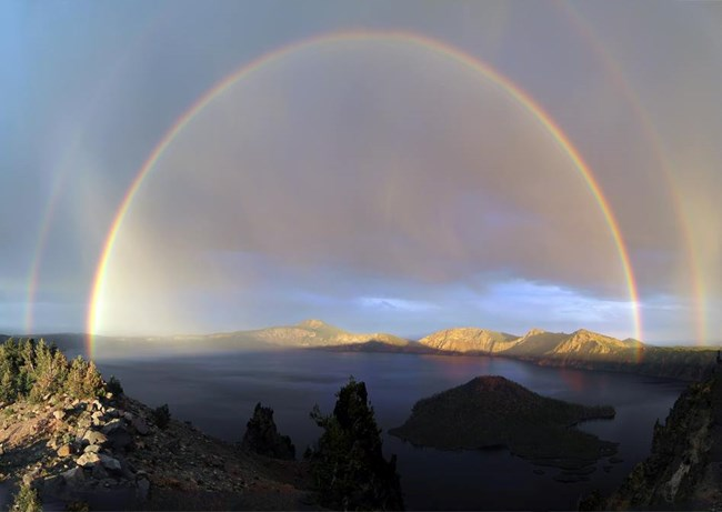 Double Rainbow at Crater Lake