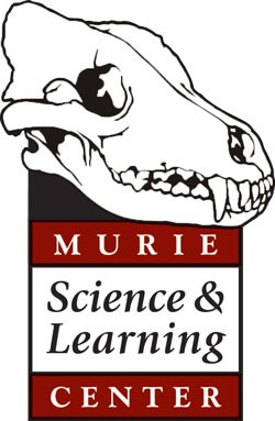 wolf skull logo of the murie science and learning center