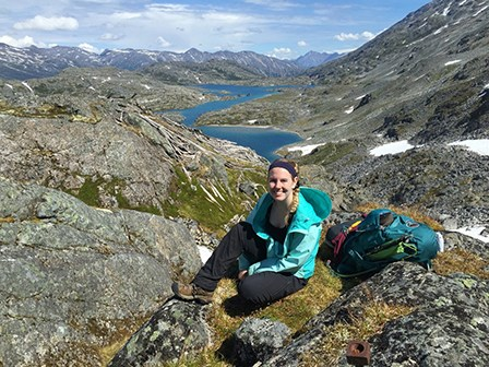 Sarah Muether on a hike in Klondike Gold Rush NHP.