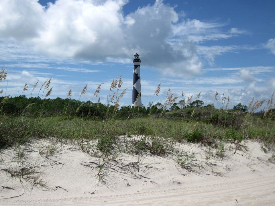A view of the Cape Lookout Lighthouse at Cape Lookout National Seashore
