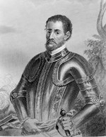 1865 engraving of Hernando De Soto