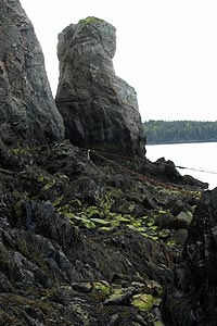 The rock formation called Friar's Head.