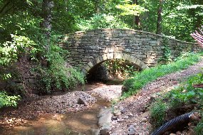 Dumbarton Oaks Park stonr bridge