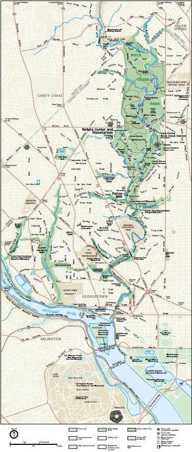 picture about Printable Walking Map of Washington Dc named Maps - Rock Creek Park (U.S. Countrywide Park Company)