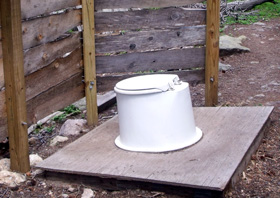 backcountry privy toilet