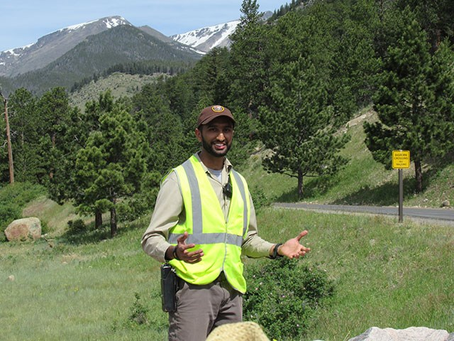Volunteer Muhammad at Sheep Lakes