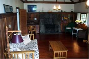 Photo interior of William Allen White cabin.