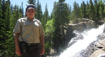 Photo volunteer at Alberta Falls