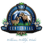 100th Anniversary Logo for Rocky Mountain National Park