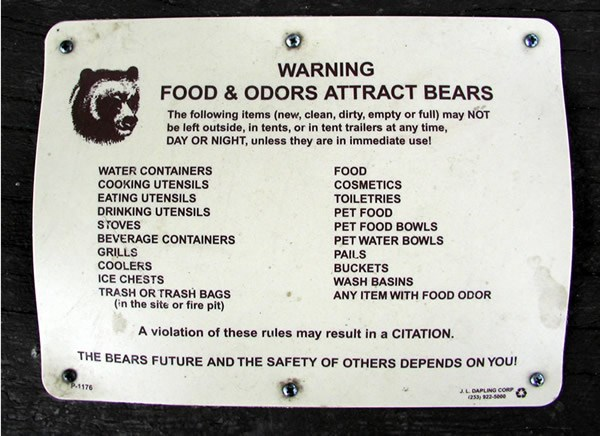 a photo of a bear notice