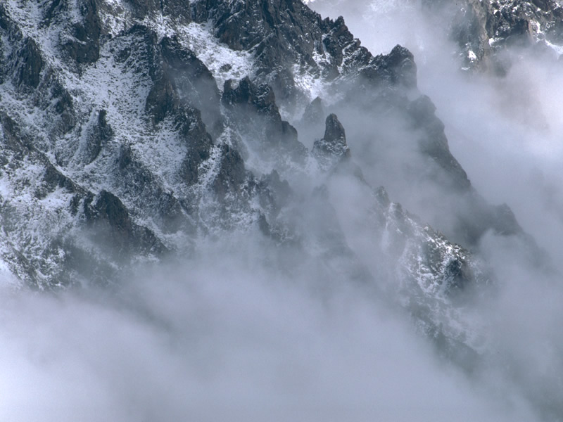 a photo of valley fog