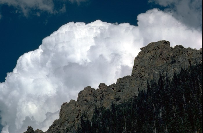a photo of cumulus clouds