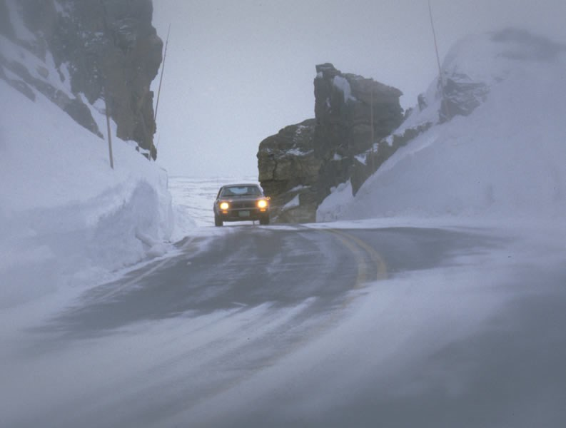 a photo of Trail Ridge Road in winter